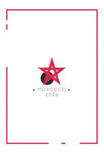 logo superposé maroc coupe du monde 2026