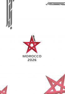 logo calligraphique maroc coupe du monde 2026