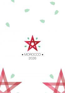 logo dégradé maroc coupe du monde 2026